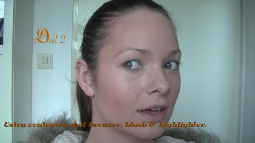 Deel 2, extra contouren met bronzer, blush &hightlighter