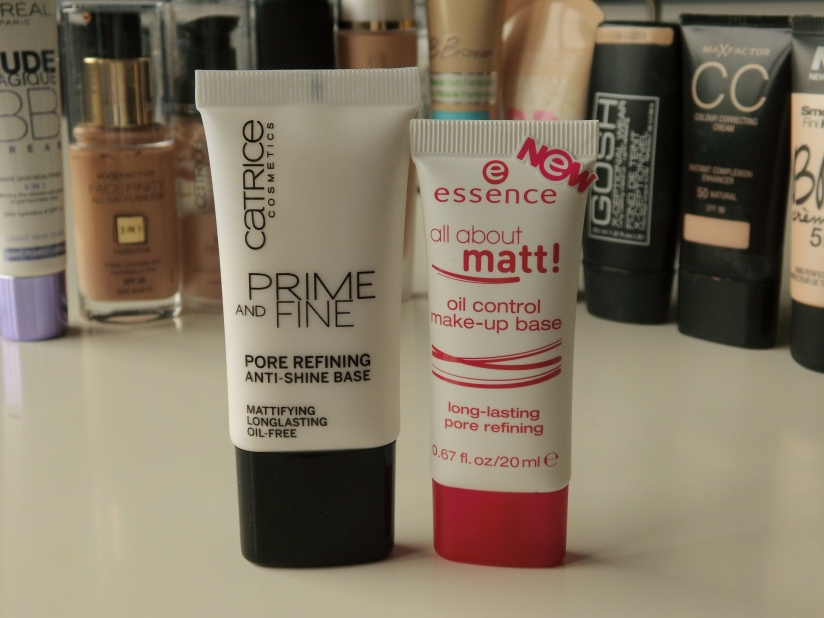 Catrice & Essence face primer.